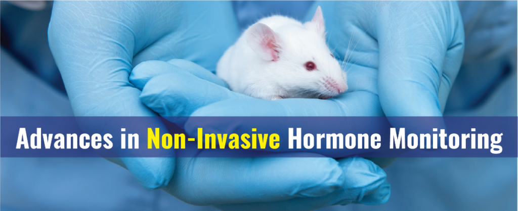 non-invasive hormone monitoring image with a mouse